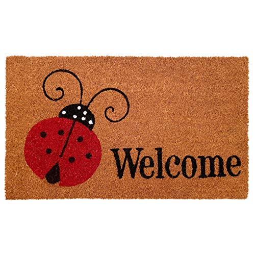 Calloway Mills 121431729 Ladybug Welcome Doormat 17' x 29',...