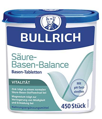 Bullrich basentabletten, zuurbasentabletten, incl. 12 pH-teststrips (450 tabletten)