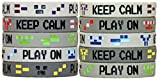 Gypsy Jade Videojuego de 8 bits Pixel estilo pulseras – ideal para minería temática o cualquier estilo de juego de vídeo – Paquete de 10