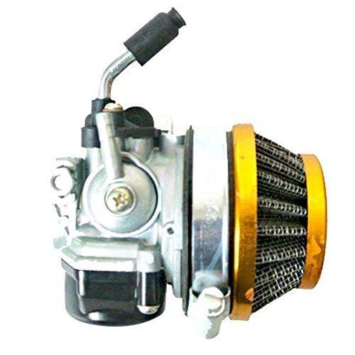 Qauick Racin Carburetor Fits 37cc 43cc 47cc 49cc 2 Stroke Engine Motorized Bicycle Red (Golden)