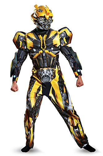 Disguise Mens Plus Size Bumblebee Movie Deluxe Adult Costume, Yellow, XX-Large