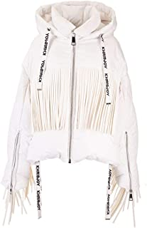 KHRISJOY Luxury Fashion Womens AFMW001NYFRWH03 White Down Jacket | Fall Winter 19