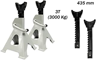 2 Pezzi di Metallo per martinetti Strumento di Riparazione per RC4WD D90 CC01 SCX10 Wraith TRAXXAS TRX-4 RC Truck Heavy Duty Jack Stand Set 01 Cavalletto in Acciaio per Auto