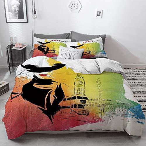 3 Piece Duvet Cover Set No Wrinkle Ultra Soft Bedding Set,Yoga,Aerial Aero...
