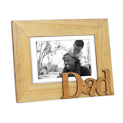 Isaac Jacobs Natural Wood Sentiments Dad Picture Frame, 5x7...