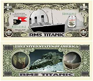 Pack of 10 - Titanic Million Dollar Bill - Best Collectible For Fans of the RMS Titanic