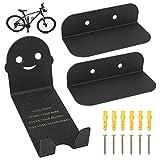 Bicycle BicycleStore - Soporte de pared para bicicleta, resistente y horizontal, soporte de almacenamiento para pedal de ciclismo, ahorro de espacio, gancho para decoración para cobertizo, garaje y apartamento