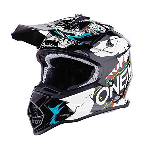 O'NEAL   Motocross-Helm   Kinder   MX Enduro   ABS-Schale, Sicherheitsnorm ECE 22.05, Lüftungsöffnungen für optimale Belüftung & Kühlung   2SRS Helmet Villian Youth   Weiß   Größe M