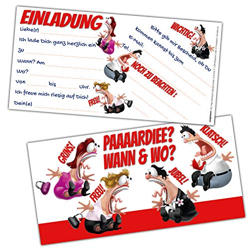 KOLLEGEN Einladungskarten Set XL (24 Stück) lustige Einladungen zum Geburtstag für Erwachsene Mädchen Jungen Kindergeburtstag Party von BREITENWERK