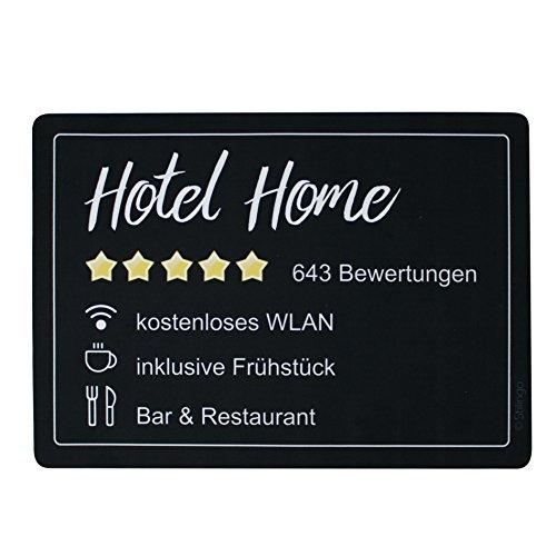 Stilingo Fussmatte innen rutschfest 50x70 cm – Hotel Home Fußmatte lustig, waschbare Türmatte für strahlend saubere Schuhe & stylisch modernen Eingangsbereich
