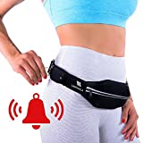 Running Belt (Standard Size) with Personal Alarm for Runners Safety Including Flexible and Stretchy Waist Pack for iPhone/ Smartphone, Keys and Belongings (Patent Pending)