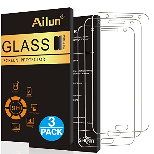 Ailun Screen Protector Compatible with Galaxy J7 3Pack 2015 Release Tempered Glass Compatible with Galaxy J7 2.5D Edge Anti-Scratch Case Friendly Siania Retail Package
