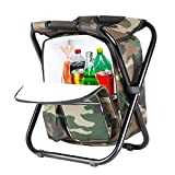 Dratal Upgraded Large Size 3 in1 Multifunction Fishing Backpack Chair, Portable Hiking Camouflage...
