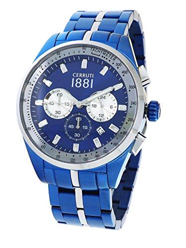 Cerruti CRA150SBLS03MBLT - Montre chronographe pour homme avec bracelet en acier inoxydable