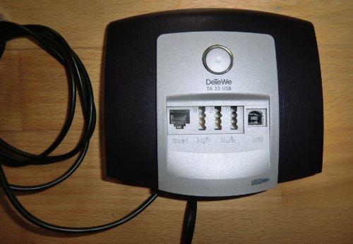 DeTeWe Terminal Adapter TA 33 USB, schwarzblau/grau