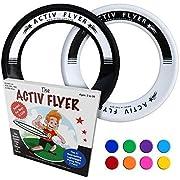 Activ Life Best Kids Wurfringe, Frisbee [Schwarz/Weiß] 2er Pack - Spielzeug für Sommer am Strand und Pool - für spaßige Wasserspiele - Outdoor für Kleinkinder und weitere Familienmitglieder