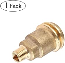 QCC1 Acme Nut Propane Gas Fitting Adapter, Propane Hose Adapter, 1/4 Inch Male Pipe Thread, Propane Quick Connect Fittings, Brass Propane Adapter