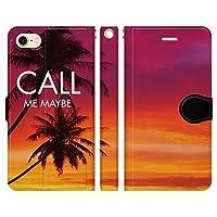 iPhone8 iPhone7 手帳型 ケース カバー ハワイアンモデル 1-L ブレインズ HAWAII ハワイ ALOHA アロハ ハワイアン 海