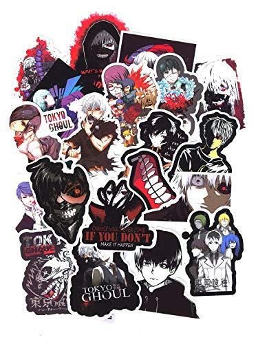 SetProducts Top Adesivi ! Lotto di 50 Adesivi Tokyo Ghoul - Stickers Vinili - Non Volgari di Alta qualità - Fashion, Stile, Bomb - Personalizzazione Computer, Laptop, Valigie, Moto, Bici, Skateboard