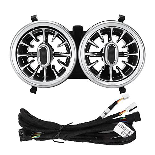 Akozon Car Turbine Air Vent, 64 Colores LED Ambient Light Kit de ventilación de Aire de turbina Trasera Reemplazo para A/CLA/GLA-Class W177 H247 B/GLB-Class W247 X247