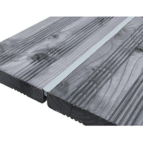 DILUMA Fugendichtband für Terrassendielen - Terrassenfugenband Made in Germany - Bodenfüllprofil/Fugendichtung für alle Terrassensysteme WPC Holz Stein, Größe:Breite 5-7.5 mm / 50 m, Farbe:Grau