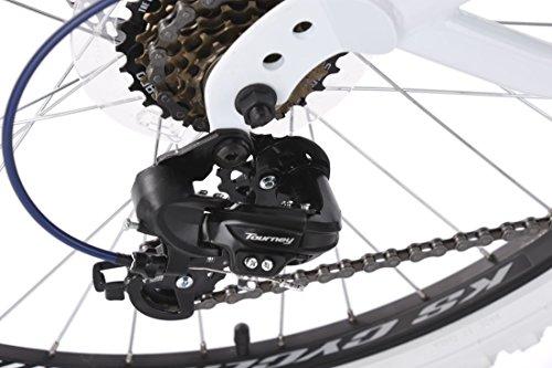 KS Cycling Erwachsene Mountainbike MTB Fully 26″ Topspin weiß-blau Fahrrad - 3