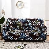 WXQY Juego de Funda de sofá elástica, Funda de sofá Antideslizante Todo Incluido. Sala de Estar Funda de sofá de combinación de Esquina en Forma de L A17 3 plazas
