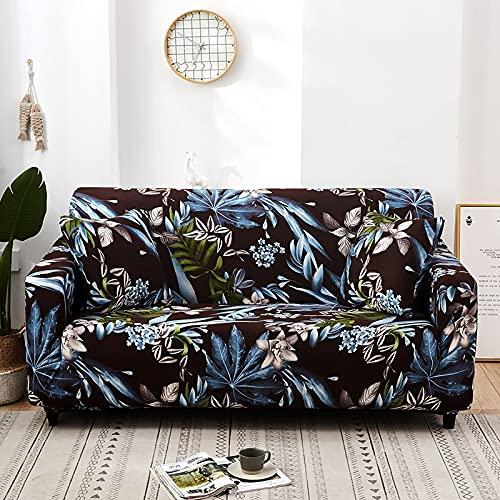 WXQY Juego de Funda de sofá elástica, Funda de sofá Antideslizante Todo Incluido. Sala de Estar Funda de sofá de combinación de Esquina en Forma de L A17 2 plazas