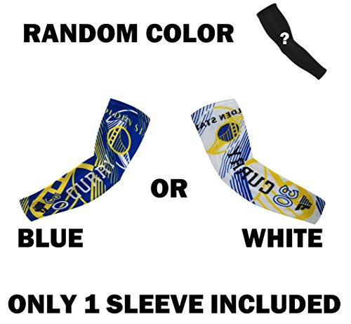 Forever Fanatics Golden State Curry #30 Basketball Fan Compression Shooter Arm Sleeve ? RANDOM COLOR ? ONLY 1 SLEEVE INCLUDED (Youth Size (6-13 Years Old), Curry #30 Pack of 2)