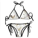 Bikini Set, Happy Chicken Girl Bikini Set Conjuntos de Ropa de Playa