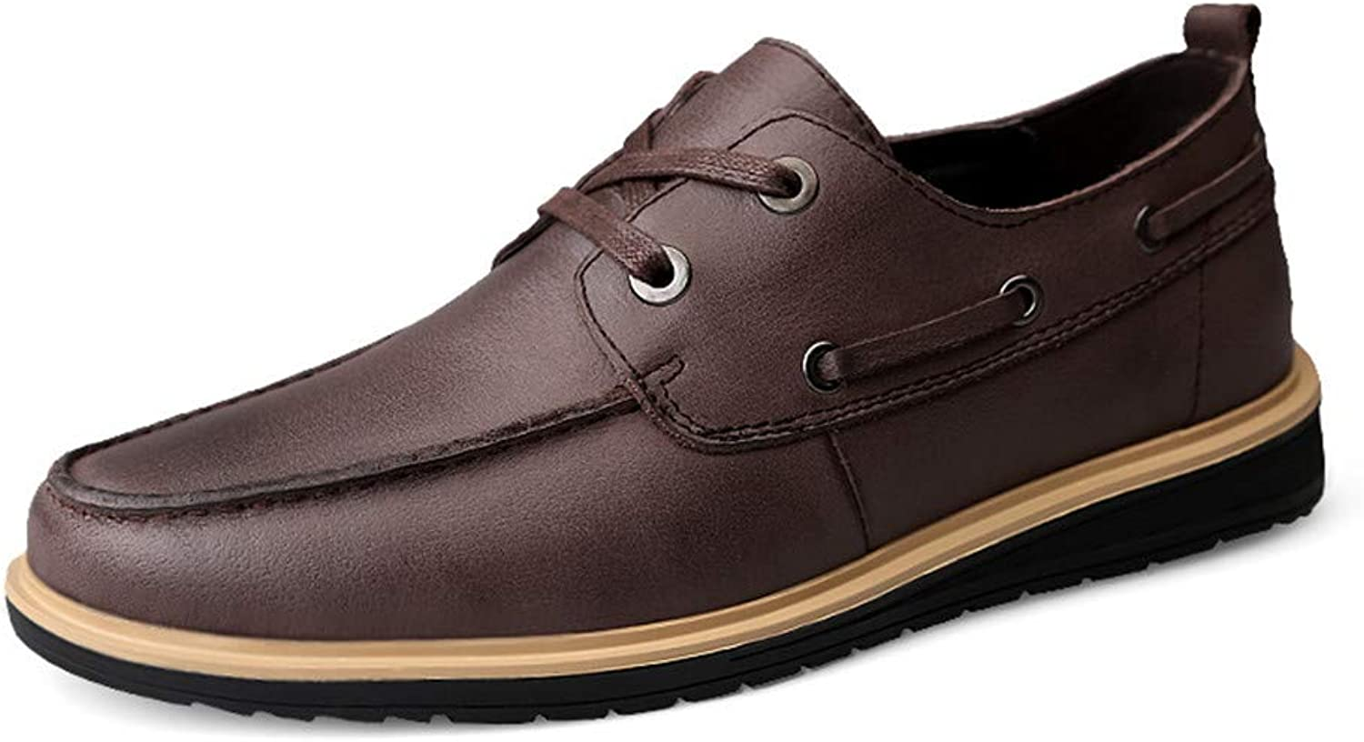 SRY-shoes Men's Simple Fashion Oxford Casual Personality Light and Comfortable Round Toe Formal shoes