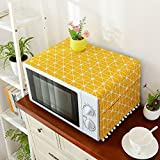 Topinon Microwave Oven Cover with Pocket (Yellow)