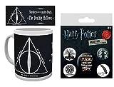 Harry Potter 1art1, Reliquias De La Muerte, Quien Posea Las Tres Será El Señor De La Muerte Taza Foto (9x8 cm) Y 1, Set De Chapas (15x10 cm)