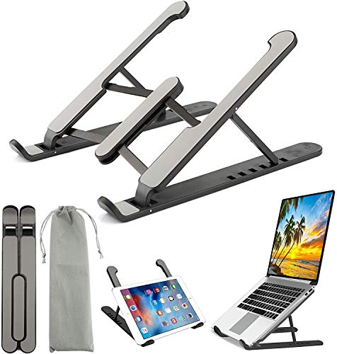 Callas Laptop Tablet Stand Notebook Computer Stand Tablet Computer Stand Universal Lightweight Adjustable Laptop Computer Stand Ergonomically Designed for Home & Office; CA-07 Black