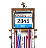 J JACKCUBE DESIGN - Marathon Medal Display Hanger Race Bibs Holder for Runners...