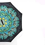 YYouRuiFashion invertido Coche inversor Paraguas Paraguas Polo Recto Paraguas Doble Polo Recto Paraguas