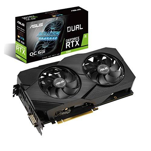 ASUS GeForce RTX 2060 Overclocked 6G GDDR6 Dual-Fan EVO Edition VR Ready HDMI DisplayPort DVI Graphics Card (DUAL-RTX2060-O6G-EVO) (Renewed)