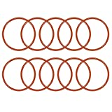 uxcell Silicone O-Ring, 44mm Outside Diameter, 39.2mm Inner Diameter, 2.4mm Width, VMQ Seal Rings Sealing Gasket Red, 10PCS