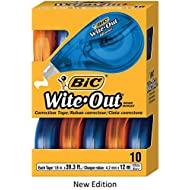 BIC Wite-Out Brand EZ Correct Correction Tape, White, 10-Count, New Edition