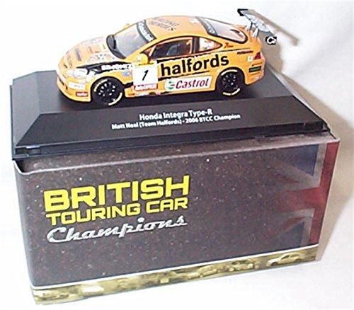atlas editions Integra honda Type-R Matt Heal Team Halfords 2006 BTCC Champion car 1.43 scale diecast model