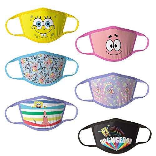 Nickelodeon Kids' Reusable Mask Multipack, SpongeBobG, OSFA
