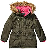 US Polo Association Girls' Toddler Outerwear Jacket (More Styles Available), Paprika Olive, 4T