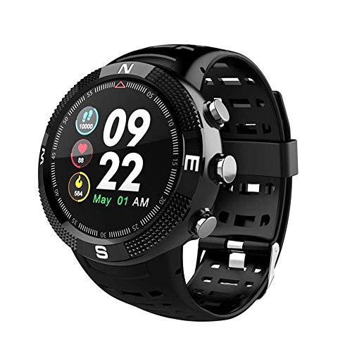 FengshuAI Smart-armband voor sport in de open lucht, Bluetooth, GPS-positionering, Global sportarmband, hartslagfrequentie en touchscreen, 3D-touchscreen, sporthorloge, zwart