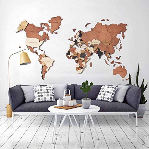 World Map Wall Art, Home Decor, Push Pin Map, Wood Map, Map of the World, Travel Push Pin Map, Personalized Map, Wooden World Map, Gift