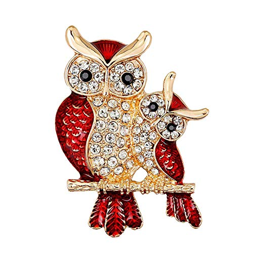 ROTOOY Women's Brooches Pins Vintage Women s Retro Rhinestone Crystal Cartoon Animals Owl Brooch Pin Wedding Party Bridal Collar Up Brooches Costume Jewelry