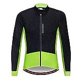 G&F Chaqueta Ciclismo Hombres Chaqueta MTB Fleece Thermal Impermeable Anti-Viento Respirable Reflexivo Invierno Ligero (Color : Green, Size : M)