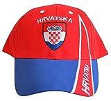 Flaggenfritze Kappe Motiv Kroatien Fahne, fan II - Cap mit kroatischer Fahne