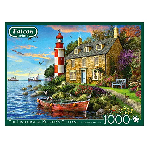Jumbo 11247 Falcon de Luxe-The Lighthouse Keeper's Cottage Puzzle, 1000 Teile, Multi