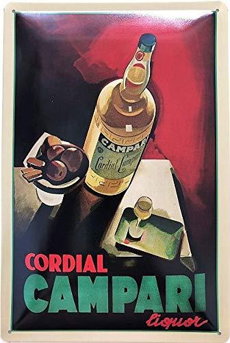 Deko7 Blechschild 30 x 20 cm Cordial Campari Liquor
