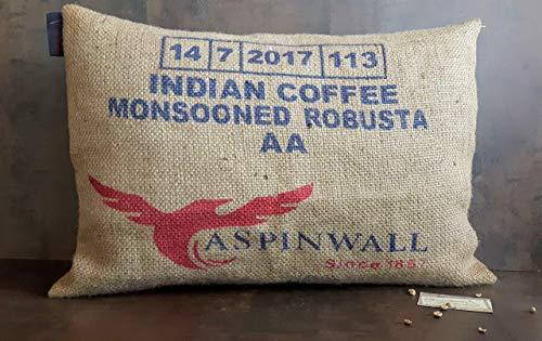 Kaffeesack Kissen Indien.Jute. 60x40 cm mit Füllung
